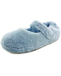 Acorn - Spa Mary Jane Women Round Toe Canvas Blue Slipper - Lyst