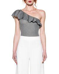 Pinko - Women's Grey Polyamide Bodysuit - Lyst
