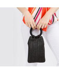 Bungalow 20 - Parker Ring Handle Woven Bag - Lyst