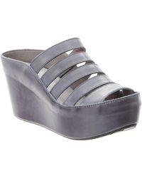 Chocolat Blu - Walker Leather Wedge Sandal - Lyst