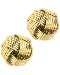 Jewelry Affairs - 14k Yellow Gold Shiny 6 Row Love Knot Stud Earrings, 12mm - Lyst