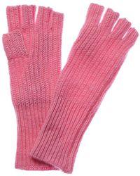 White + Warren - Cotton Candy Heather Cashmere Fingerless Gloves - Lyst
