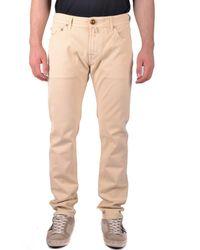 Jacob Cohen - Men's Beige Cotton Jeans - Lyst
