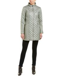 Via Spiga - Diamond Quilted Coat - Lyst