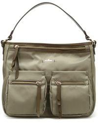 Hogan - Women's Kbw00xr1200ikx187l Green Fabric Shoulder Bag - Lyst
