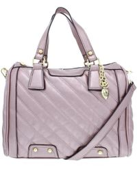 Juicy Couture - Womens Between The Lines Faux Leather Quilted Satchel Handbag - Lyst