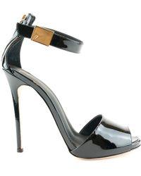 Giuseppe Zanotti - Women's Black Leather Sandals - Lyst