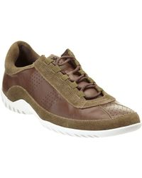 Donald J Pliner - Donald J Pliner Far Leather & Suede Trainer - Lyst
