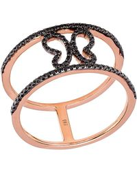 CR By Casa Reale | 18 K Gold Black Diamond Butterfly Ring | Lyst