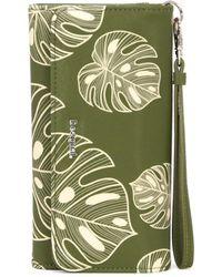 Desigual - Women's Green Polyurethane Wallet - Lyst