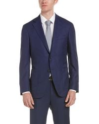 Canali | Kei Wool Suit With Flat Front Pant | Lyst