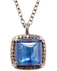 Adornia - Fine Silver 3.20 Ct. Tw. Diamond Kyanite Necklace - Lyst