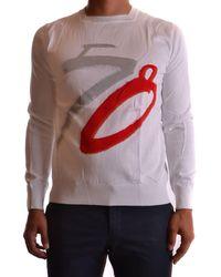 Dirk Bikkembergs - Men's Mcbi097017o White Cotton Sweater - Lyst
