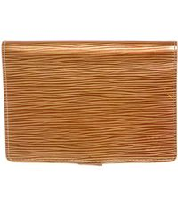 Louis Vuitton - Gold Epi Leather Small Agenda Notebook Holder Cover - Lyst