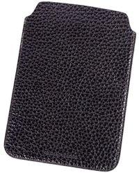 Brunello Cucinelli - Rich Dark Brown Grained Leather Ipad Sleeve - Lyst