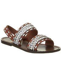 Maje - Fatale Leather Sandal - Lyst