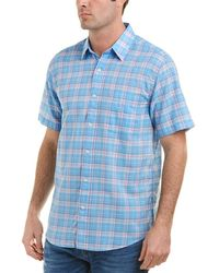 Faherty Brand - Summer Blend Linen-blend Woven Shirt - Lyst