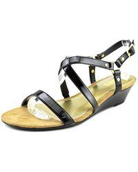 Chaps - Womens Mackenzee Open Toe Ankle Strap Wedge Pumps - Lyst