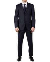 Luciano Barbera - Men's Two Button Wool Suit Navy - Lyst