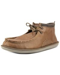 Sanuk - Walla Deluxe Men Moc Toe Leather Brown Boot - Lyst