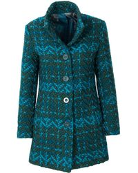 Desigual - Women's Green Polyester Coat - Lyst