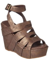 Antelope - 949 Leather Wedge Sandal - Lyst