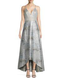 Badgley Mischka - Metallic High-low Gown - Lyst