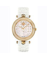 Versace - Women's Vanitas Swiss Quartz Stainless Steel Watch, Model: Vao060016 - Lyst