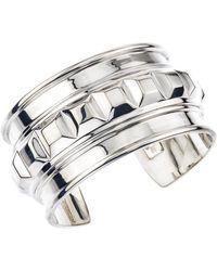 Jewelista - Sterling Silver Box Square Cuff - Lyst