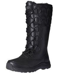 4cd16f09ea0 Lyst - Ugg Everglayde Women Round Toe Suede Mid Calf Boot in Black
