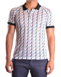 John Galliano - Men's Mcbi130097o Multicolor Linen Polo Shirt - Lyst
