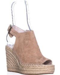 Kenneth Cole - Olivia Espadrille Mule Sandals, Cream - Lyst