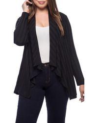 Bobeau - Simone Plus Size Rib Knit Cardi - Lyst