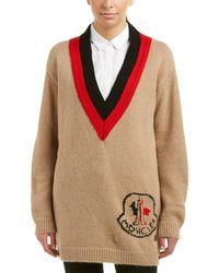 Moncler - Gamme Rouge Lovett Alpaca, Wool & Cashmere-blend Sweater - Lyst