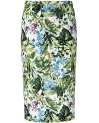 Pinko - Women's Green Polyester Skirt - Lyst
