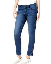 Earl Jean - Lace Up Denim Skinny Jeans - Lyst