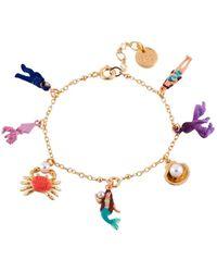 Les Nereides - I Am A Mermaid Shells And Scales Double Bracelet - Lyst