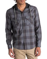Quiksilver - Mens The Magston Woven Plaid Button-down Shirt - Lyst