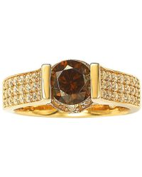 Suzy Levian - Bridal 14k Gold Over Silver Cubic Zirconia Ring - Lyst