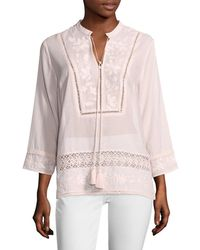 Plenty by Tracy Reese - Embroidered Kurta - Lyst