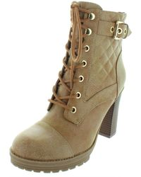 G by Guess - Womens Gift Faux Leather Quilted Booties - Lyst