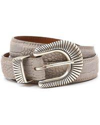 Eleventy - Men's Beige Leather Belt - Lyst