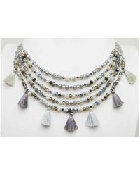 Sparkling Sage - Silver Plated Resin Necklace - Lyst