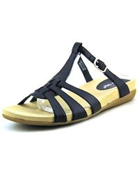 David Tate - Squeeze N/s Open Toe Leather Slides Sandal - Lyst