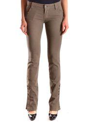 John Galliano - Women's Mcbi130061o Green Cotton Jeans - Lyst
