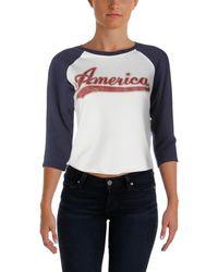 Denim & Supply Ralph Lauren - Womens Graphic Scoop Neck Sweatshirt - Lyst