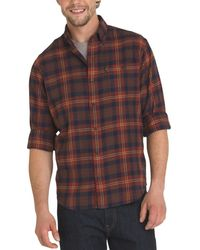 G.H.BASS - G.h. Bass & Co. Mens Flannel Plaid Button-down Shirt - Lyst
