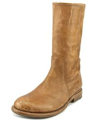 Bed Stu - Annette Women Round Toe Leather Tan Mid Calf Boot - Lyst