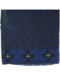 Givenchy - 1212gv Sd898 1 Navy Blue Printed Scarf - Lyst
