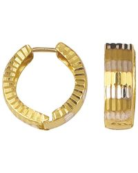 Jewelry Affairs - 14k 2 Tone Gold Snuggable Huggie Earrings - Lyst